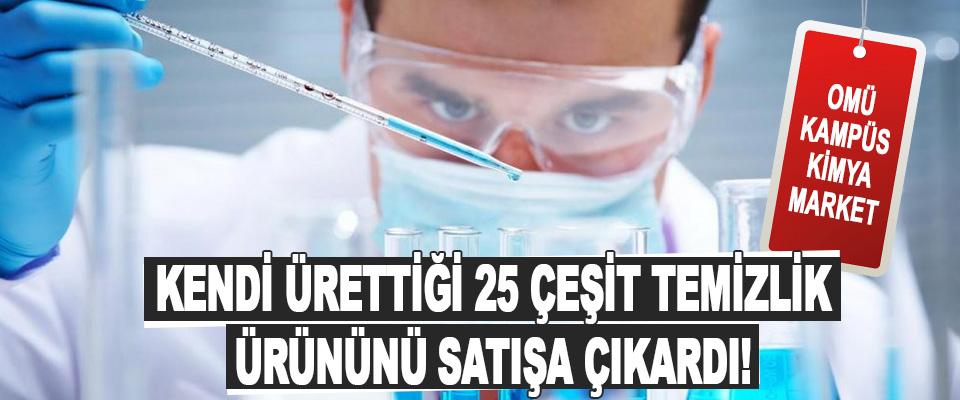 Omü Kampüs Kimya Market Kendi Ürettiği 25 Çeşit Temizlik Ürününü Satışa Çıkardı!