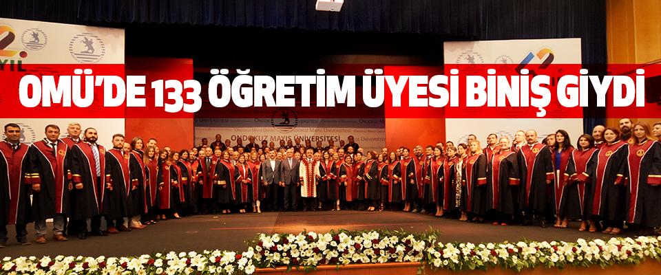 OMÜ'de 133 Öğretim Üyesi Biniş Giydi