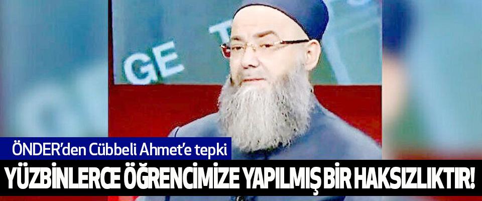 ÖNDER'den Cübbeli Ahmet'e tepki...