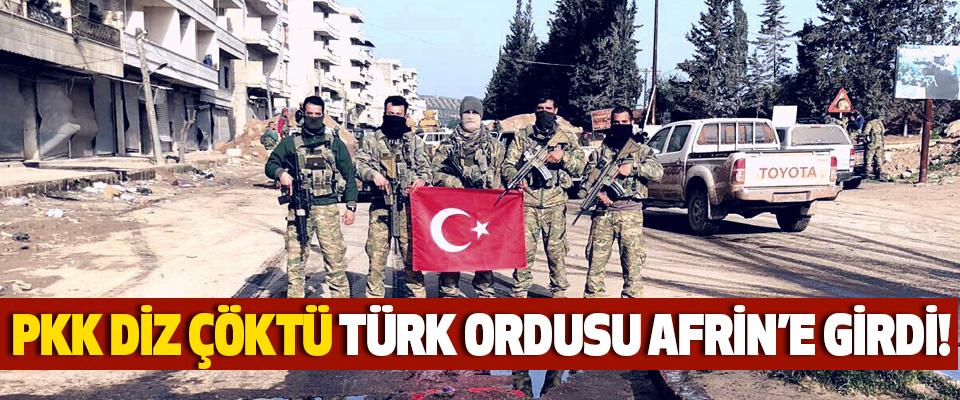 PKK diz çöktü Türk Ordusu Afrin merkezini aldı!