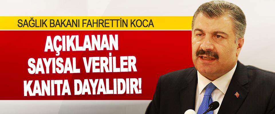 Sağlık Bakanı Fahrettin Koca: Açıklanan Sayısal Veriler Kanıta Dayalıdır!