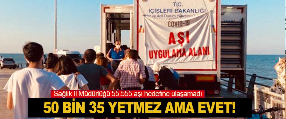 Sağlık İl Müdürlüğü 55.555 aşı hedefine ulaşamadı