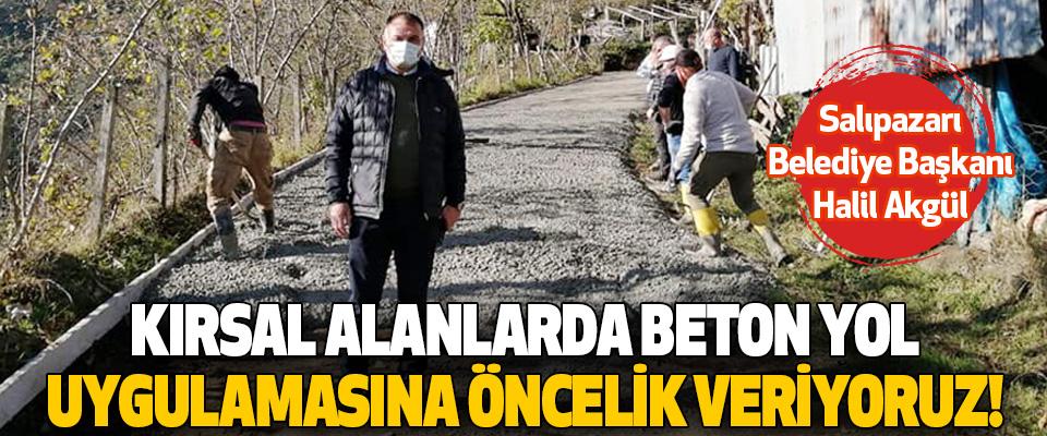Salıpazarı Belediye Başkanı Halil Akgül