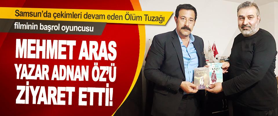Samsun'da Çekimleri Devam Eden Ölüm Tuzağı Filminin Başrol Oyuncusu Mehmet Aras Yazar Adnan Öz'ü Ziyaret Etti!