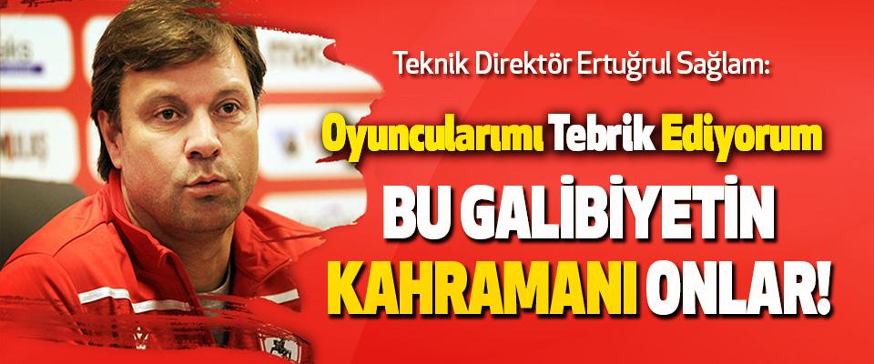 Samsunspor Teknik Direktörü Ertuğrul Sağlam: Oyuncularımı Tebrik Ediyorum.