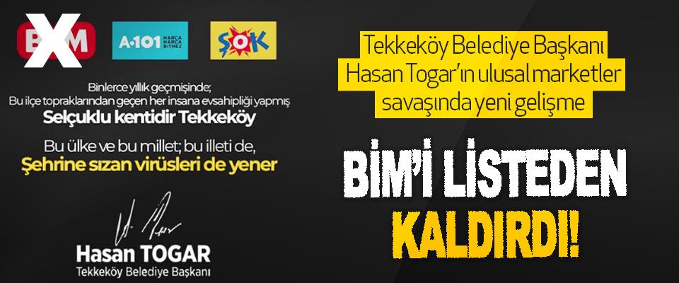 Tekkeköy Belediye Başkanı Hasan Togar'ın Ulusal Marketler Savaşında Yeni Gelişme