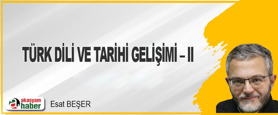 Türk Dili Ve Tarihi Gelişimi – II