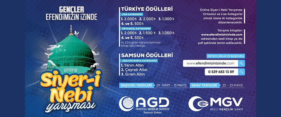Türkiye geneli Siyeri Nebi yarışması!