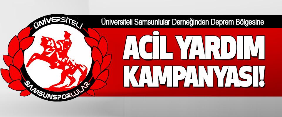 Üniversiteli Samsunlular Derneğinden Deprem Bölgesine Acil Yardım Kampanyası!