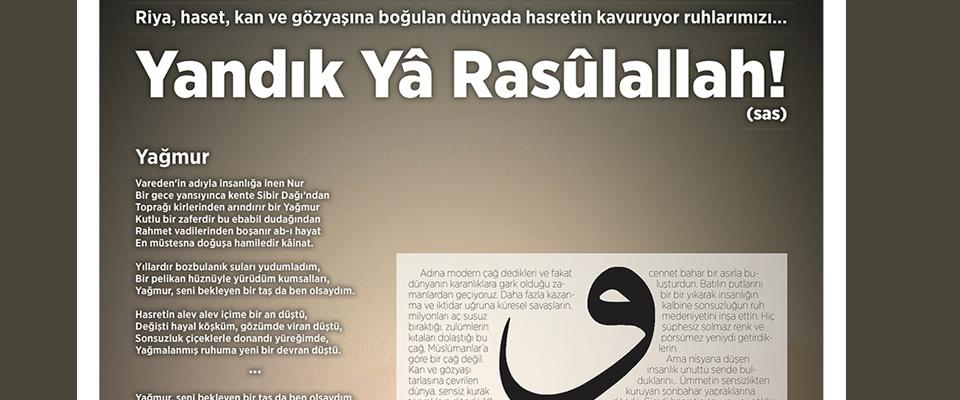 Yandık Yâ Rasûlallah!