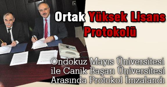 Ondokuz Mayıs Üniversitesi ile Canik Başarı Üniversitesi Arasında Protokol İmzalandı