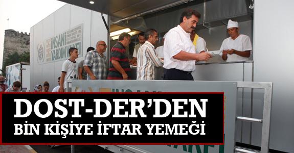 Dost-Der'den bin kişiye iftar yemeği.