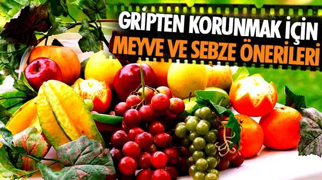 Gripten Korunmak İçin Meyve Ve Sebze Önerileri