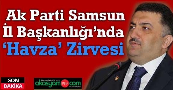 Ak Parti Samsun İl Başkanlığı'nda 'Havza' Zirvesi