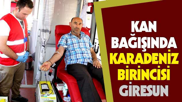 Kan Bağışında Karadeniz Birincisi Giresun