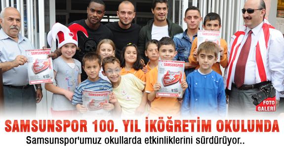 Samsunspor'umuz okullarda etkinliklerini sürdürüyor ..
