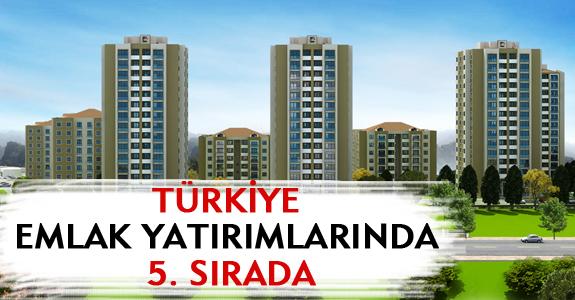 TÜRKİYE EMLAK YATIRIMLARINDA 5. SIRADA