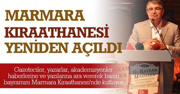 Marmara Kıraathanesi Yeniden Açıldı