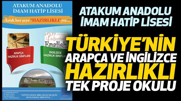 Türkiye'nin Arapça Ve İngilizce Hazırlıklı Tek Proje Okulu