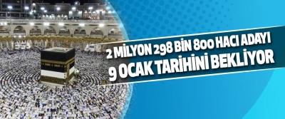 2 Milyon 298 Bin 800 Hacı Adayı 9 Ocak Tarihini Bekliyor
