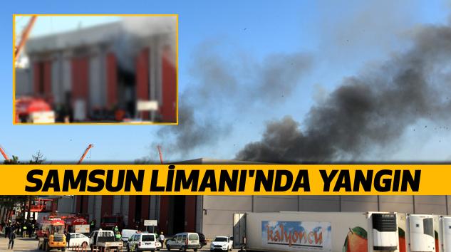 Samsun Limanı'nda Yangın
