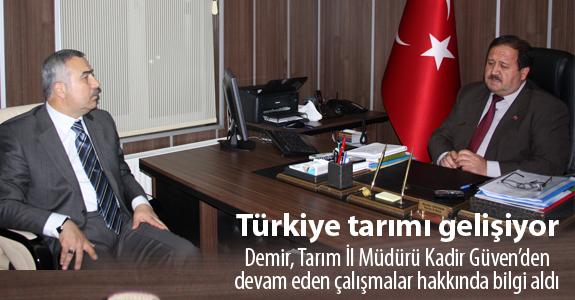 Türkiye tarımı gelişiyor