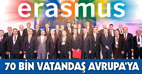 ERASMUS+ İLE 70 BİN VATANDAŞ AVRUPA'YA