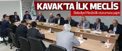31 Mart seçimleri sonrası Kavak'ta İlk Meclis