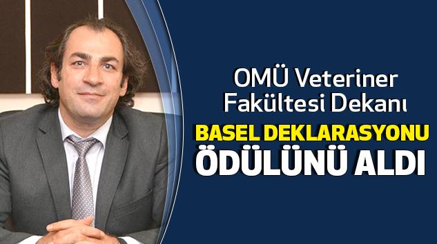OMÜ Veteriner Fakültesi Dekanı Basel Deklarasyonu Ödülünü Aldı