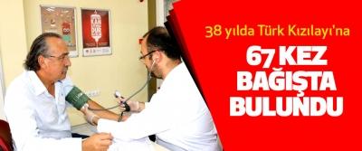 38 yılda Türk Kızılayı'na 67 Kez Bağışta Bulundu