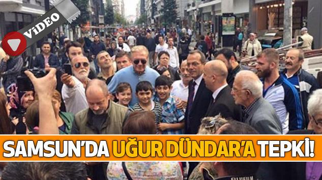Samsun'da Uğur Dündar'a Tepki!