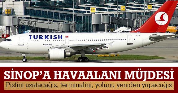Sinop'a havaalanı müjdesi