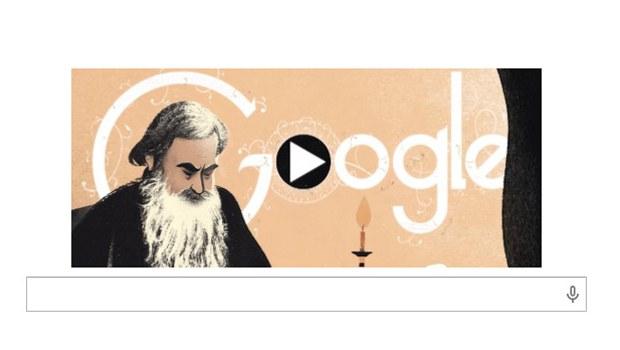 Google'dan Tolstoy'a özel doodle