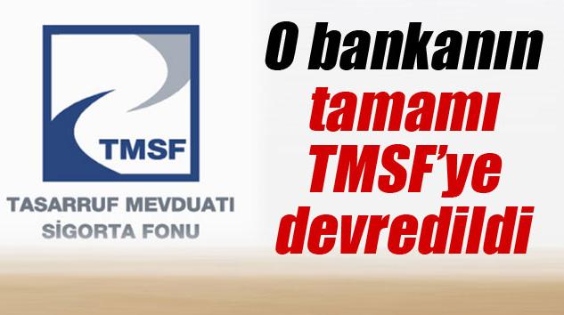 Banka Asya'nın, Tmsf'ye Devredilmesine Karar Verildi