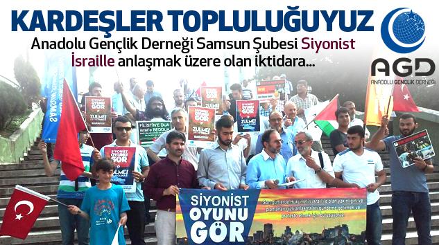 AGD Samsun Şubesinden Siyonist İsraille anlaşmak üzere olan iktidara basın açıklaması...
