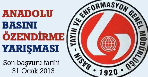 Anadolu Basını Özendirme Yarışması 2012