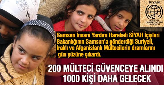 200 MÜLTECİ GÜVENCEYE ALINDI 1000 KİŞİ DAHA GELECEK