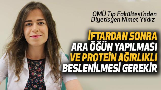 İftarda Ara Öğün Ve Protein Ağırlıklı Beslenme Önerisi