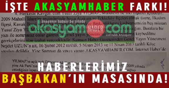 HABERLERİMİZ BAŞBAKAN'IN MASASINDA!