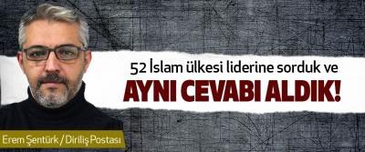 52 İslam ülkesi liderine sorduk ve Aynı Cevabı Aldık!