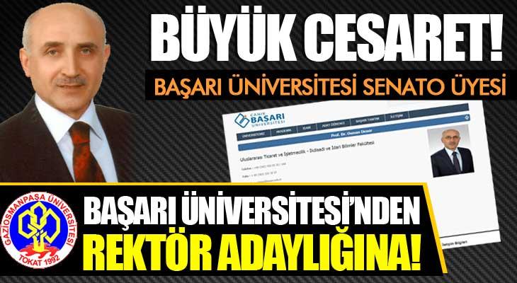 Başarı Üniversitesi'nden Rektör Adaylığına!