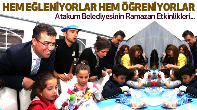 Atakum'da çocuklar mutlu...