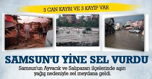 Samsun'u Yine Sel Vurdu