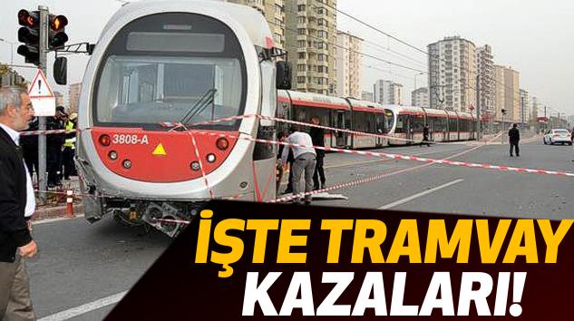 Tramvay Yolundaki Kazalar Kameralara Böyle Yansıdı