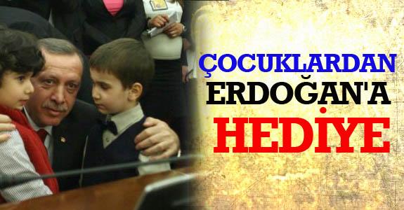 Çocuklardan Erdoğan'a Hediye