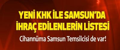 695 ve 696 Sayılı KHK ile Samsun'dan İhraç Edilenlerin Listesi