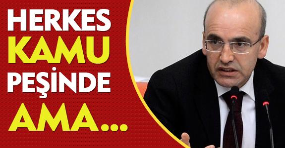 HERKES KAMU PEŞİNDE AMA...