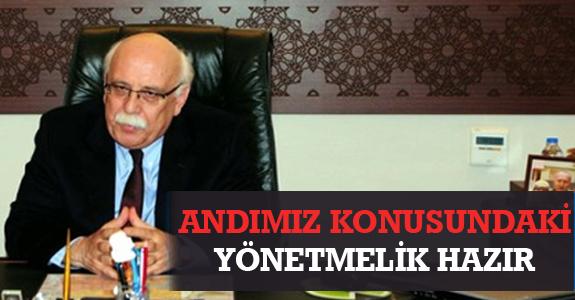 'ANDIMIZ' KONUSUNDAKİ YÖNETMELİK HAZIR