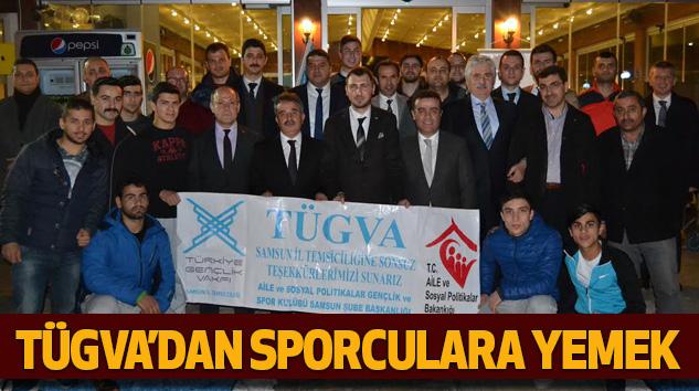 TÜGVA'dan Sporculara Yemek