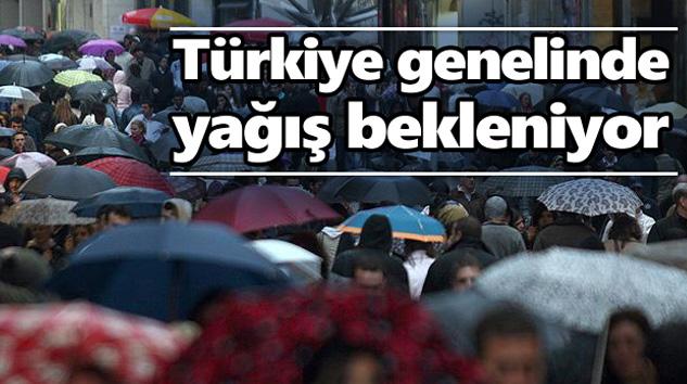 Türkiye Yağışlı Havanın Etkisine Giriyor